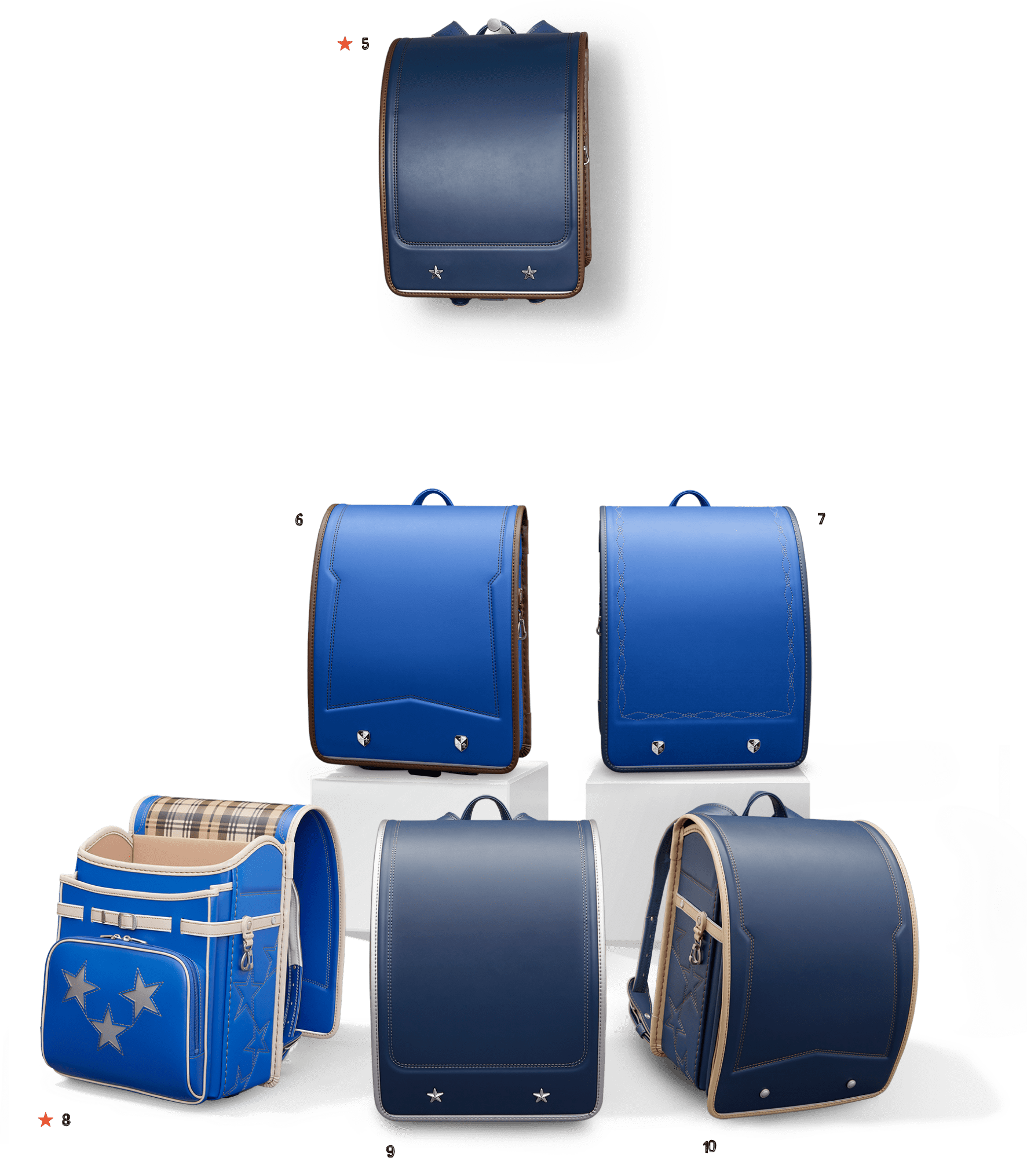 オーダーメイドランドセル組み合わせ例 ブルー